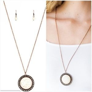 RUN OUT OF RODEO COPPER NECKLACE/EARRING SET